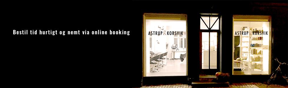 online booking hos frisør Astrup & Korsvik